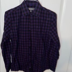 Kenneth Cole gingham button down.
